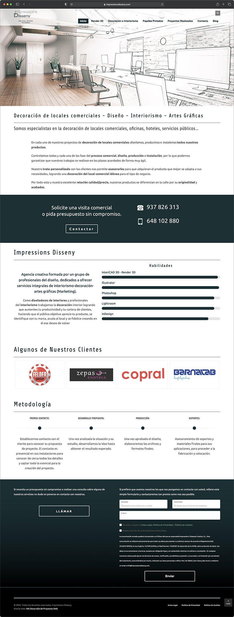 Diseño Web Sant Vicenç del Horts - Impressions i Disseny